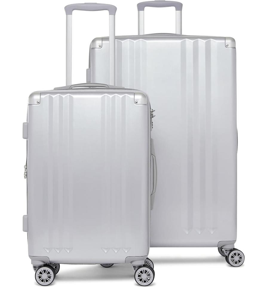 "In need of new luggage? A hard-shell spinner is durable and convenient for your long trips, especially if you have a larger load to carry. This polycarbonate suitcase set is lightweight and comes with interior zip dividers to create separate packing compartments, making it ideal for keeping your travel essentials organized.  <strong>Buy It!</strong> CALPAK Ambeur 2-Piece Spinner Luggage Set, $276.25 (orig. $325); <a href=""https://click.linksynergy.com/deeplink?id=93xLBvPhAeE&mid=1237&murl=https%3A%2F%2Fshop.nordstrom.com%2Fs%2Fcalpak-ambeur-2-piece-spinner-luggage-set%2F4633739&u1=PEO%2CShopping%3A18SeriouslyDiscountedTravelFindsfromNordstrom%2Ckamiphillips2%2CUnc%2CGal%2C6173451%2C201910%2CI"" target=""_blank"" rel=""nofollow"">nordstrom.com</a>"