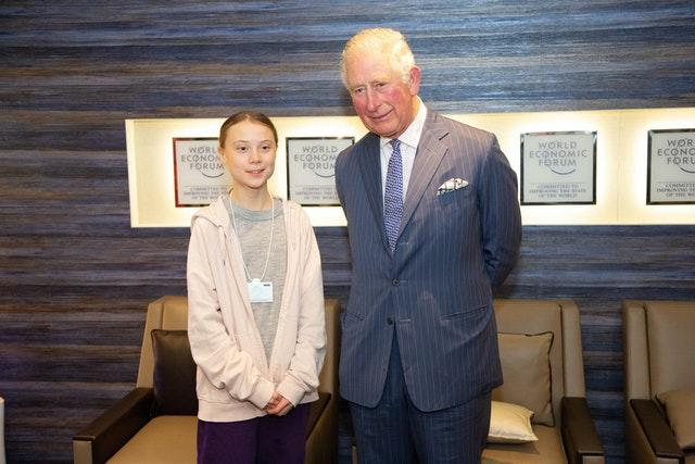 The Prince of Wales with climate activist Greta Thunberg