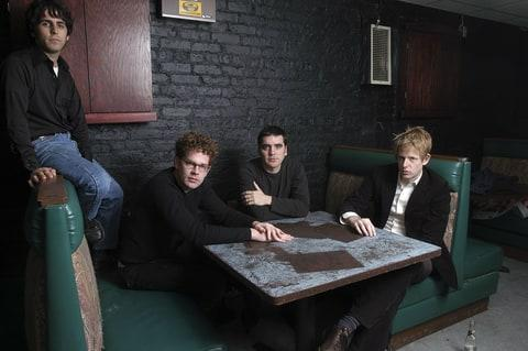 Portrait of American rock band Spoon, Chicago, Illinois, March 31, 2003.
