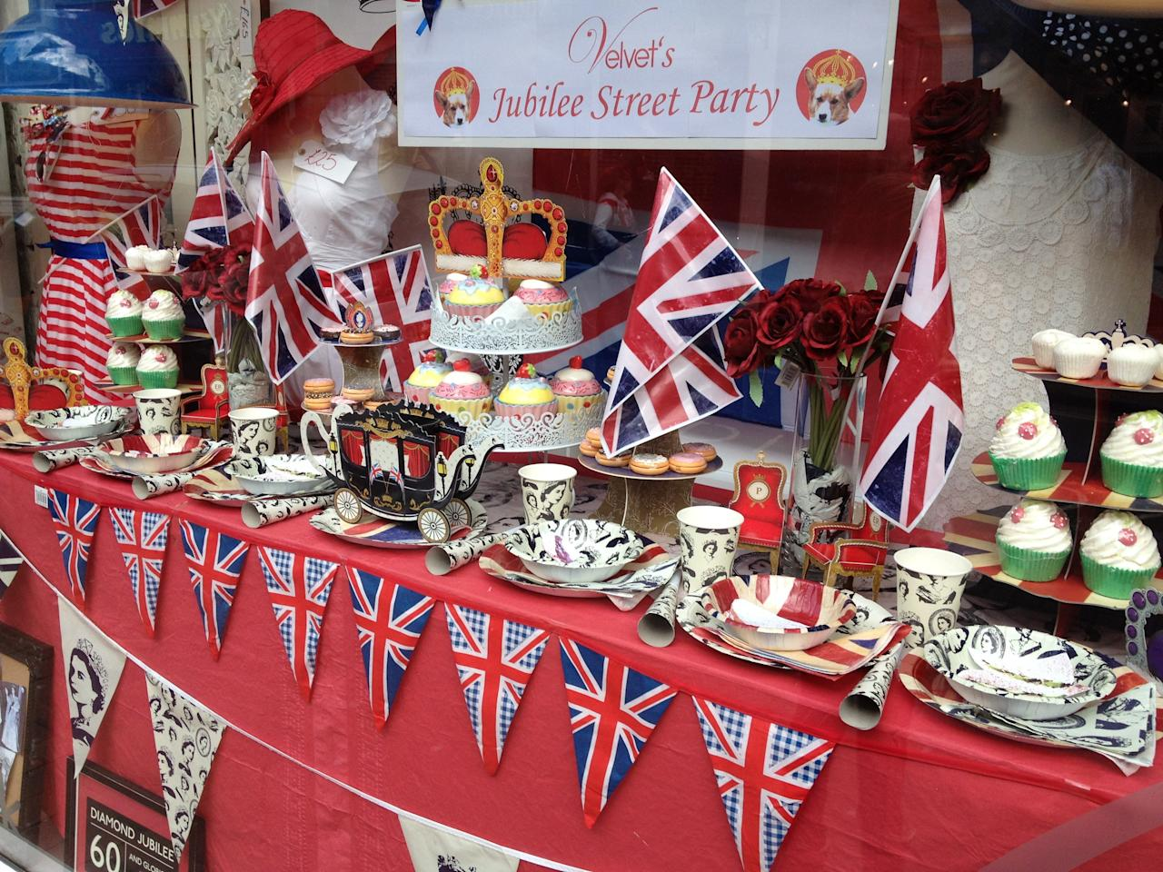 Shop prepares for Jubilee in Sussex