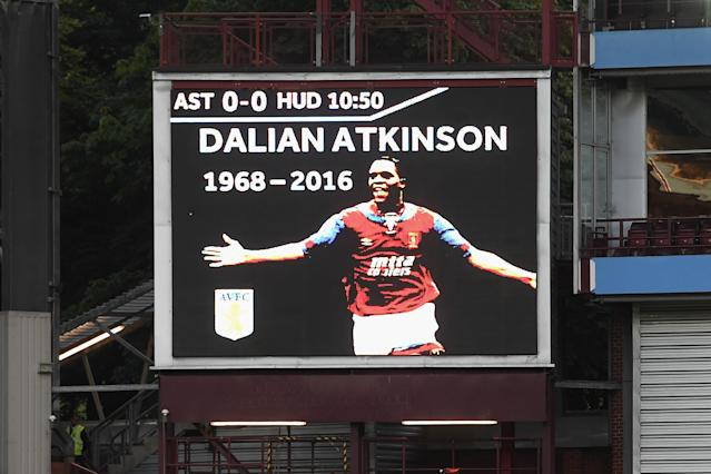 Aston Villa put out a tribute for their former striker when he died in 2016. (Photo by Stu Forster/Getty Images)