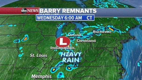 PHOTO: Heavy rain is expected in Tennessee Wednesday morning. (ABC News)