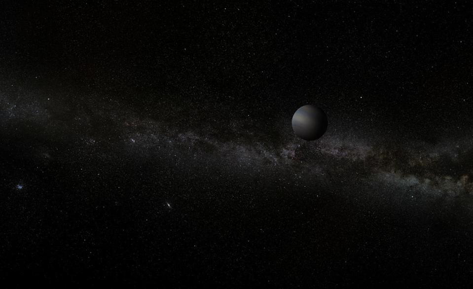 Artist's impression of a free-floating planet. (A. Stelter / Wikimedia Commons)