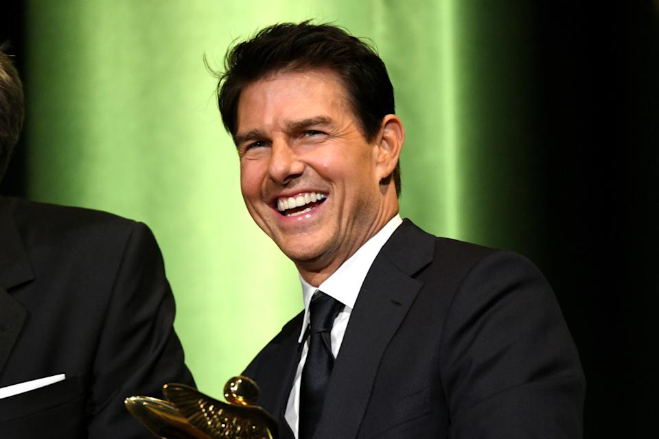 BURBANK, CA - JANUARY 30:  Tom Cruise onstage during the 10th Annual Lumiere Awards at Warner Bros. Studios on January 30, 2019 in Burbank.  (Photo by Michael Kovac/Getty Images for Advanced Imaging Society)
