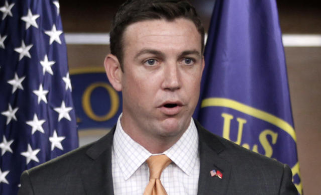 Rep. Duncan Hunter, R-Calif., was charged last week with 60 criminal counts alleging he and his wife misappropriated $250,000 in campaign contributions. (Photo: AP/Carolyn Kaster)