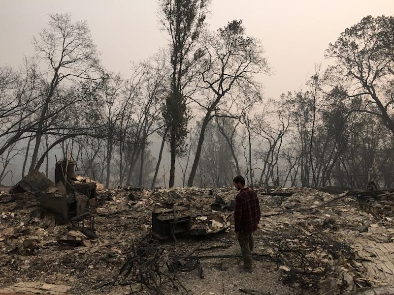 Searchers in California wildfire step up efforts; 77 dead