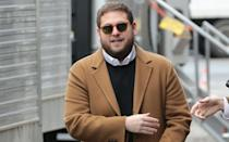 <p>… Flash forward to March 2016 and it looks like Jonah's weight seems to dropping again as he was photographed visiting the set of new comedy 'Collateral Beauty' starring Will Smith, Kate Winslet, and Keira Knightley, looking trim in shades and camel coat.</p>