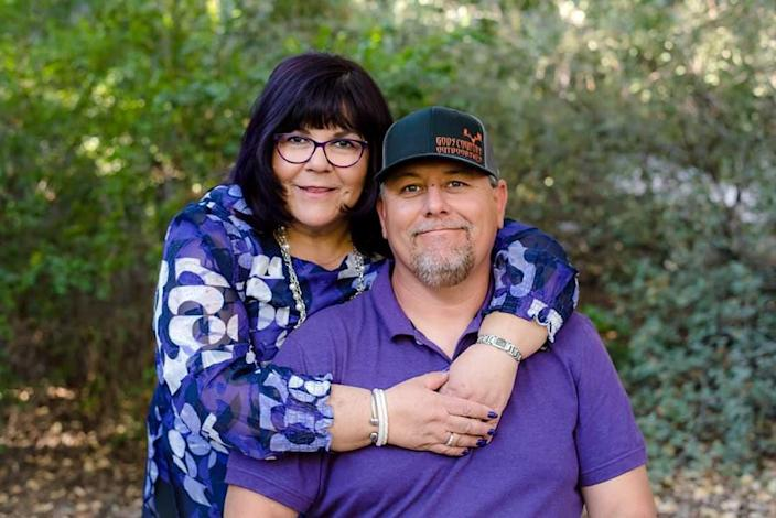 Kimberly Chavez Lopez Byrd with her husband Jesse Byrd. Kimberly died of complications from the coronavirus. (Courtesy Byrd family)