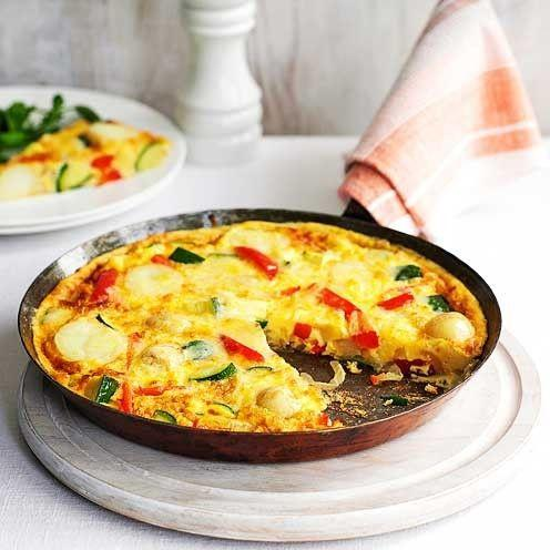 """<p>This delicious courgette and pepper frittata can be made in under 20 minutes!</p><p><strong>Recipe: <a href=""""https://www.goodhousekeeping.com/uk/food/recipes/courgette-and-pepper-frittata"""" rel=""""nofollow noopener"""" target=""""_blank"""" data-ylk=""""slk:Courgette and pepper frittata"""" class=""""link rapid-noclick-resp"""">Courgette and pepper frittata</a></strong></p>"""