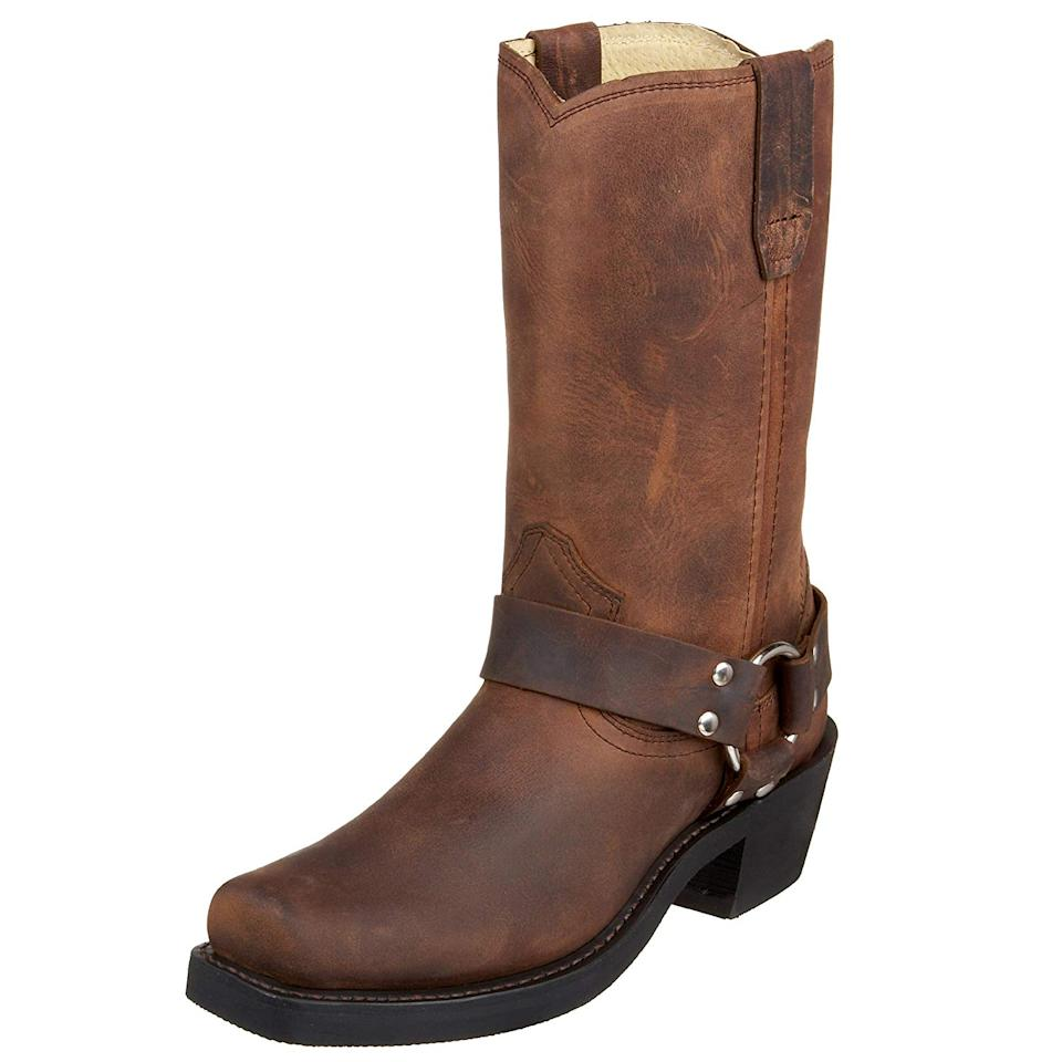 """<br><br><strong>Durango</strong> Harness Boot, $, available at <a href=""""https://www.amazon.com/Durango-Womens-RD594-Crossroads-Harness/dp/B000CGOGS4/"""" rel=""""nofollow noopener"""" target=""""_blank"""" data-ylk=""""slk:Amazon"""" class=""""link rapid-noclick-resp"""">Amazon</a>"""
