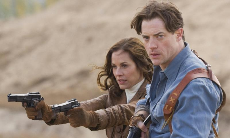 Brendan Fraser and Maria Bello in 2008's 'The Mummy: Tomb of the Dragon Emperor' (credit: Universal)