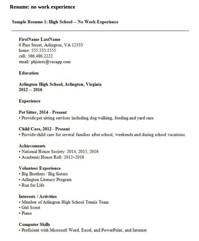 High School Resume 2020 Guide Tips Templates Examples Cashay