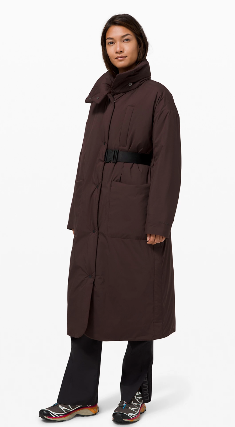 Pure Puff Jacket Long in French Press (Photo via Lululemon Athletica)
