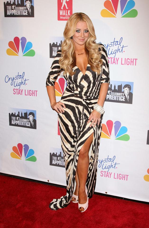 "Aubrey O'Day attends the ""Celebrity Apprentice"" Live Finale at American Museum of Natural History on May 20, 2012 in New York City."