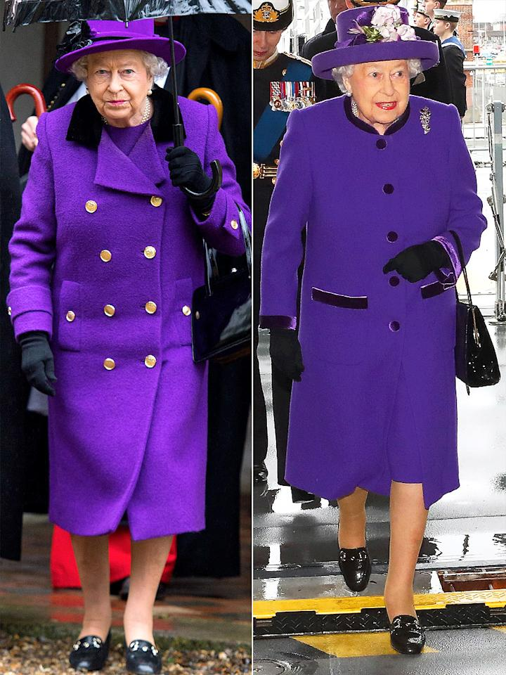 "<p>Since ancient times, this deep shade of bright purple has been worn by regal figures. Centuries ago, the dye was incredibly expensive and difficult to procure, and as a result, only the richest could enjoy it. (According to <a rel=""nofollow"" href=""http://www.history.com/news/ask-history/why-is-purple-considered-the-color-of-royalty"">history.com</a>, some Roman emperors even forbade their citizens from wearing the hue or else punished them by death!) Ever since, it's always been associated with royalty, and the current British monarch is no exception, wearing the electric shade as recently as Dec. 7 (right).</p>"