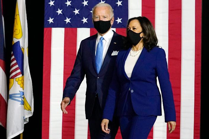 Presidential candidate Joe Biden and his running mate, California Sen. Kamala Harris, D-Calif., make their debut as the Democratic ticket Wednesday.