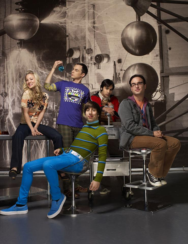 "The cast of ""The Big Bang Theory ."""