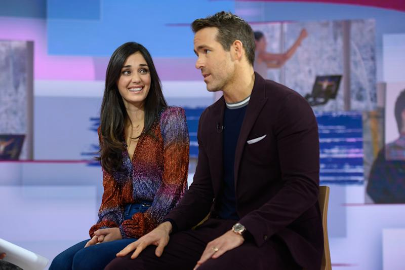 TODAY -- Pictured: Monica Ruiz and Ryan Reynolds on Thursday, December 12, 2019 -- (Photo by: Nathan Congleton/NBC/NBCU Photo Bank via Getty Images)