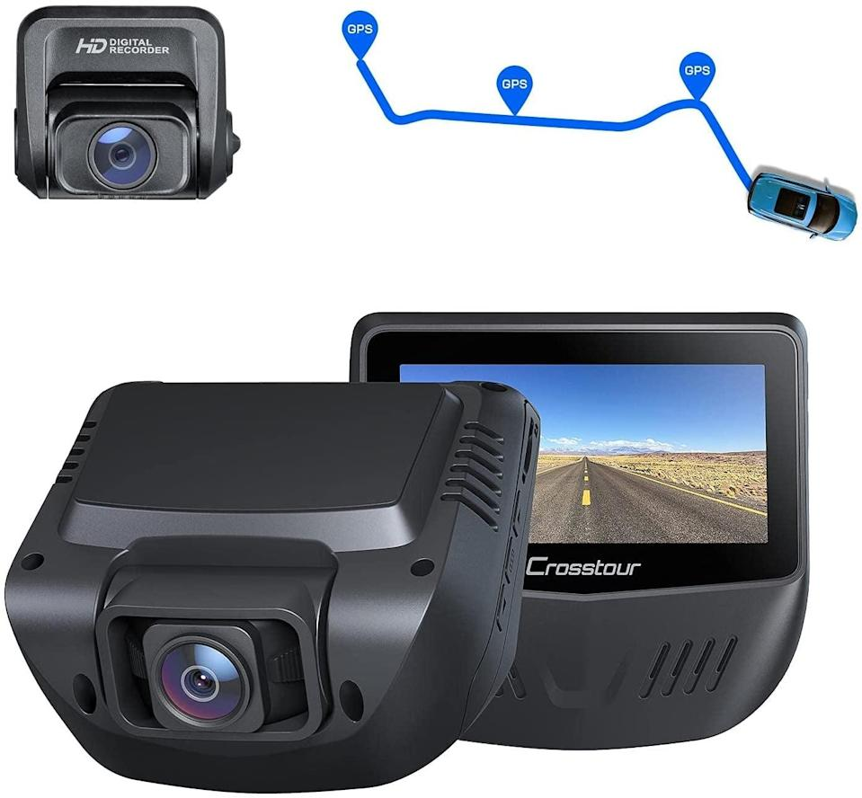 <p>Keep everything recorded, and give yourself peace of mind with this compact <span>Crosstour Dash Cam</span> ($90). It fits right on your rearview mirror, so you get multiple views while driving.</p>