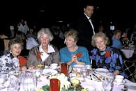 <p>Thank you for being our friends, ladies. This picture from during the show's run was taken at the 46th Annual Golden Apple Awards. </p>
