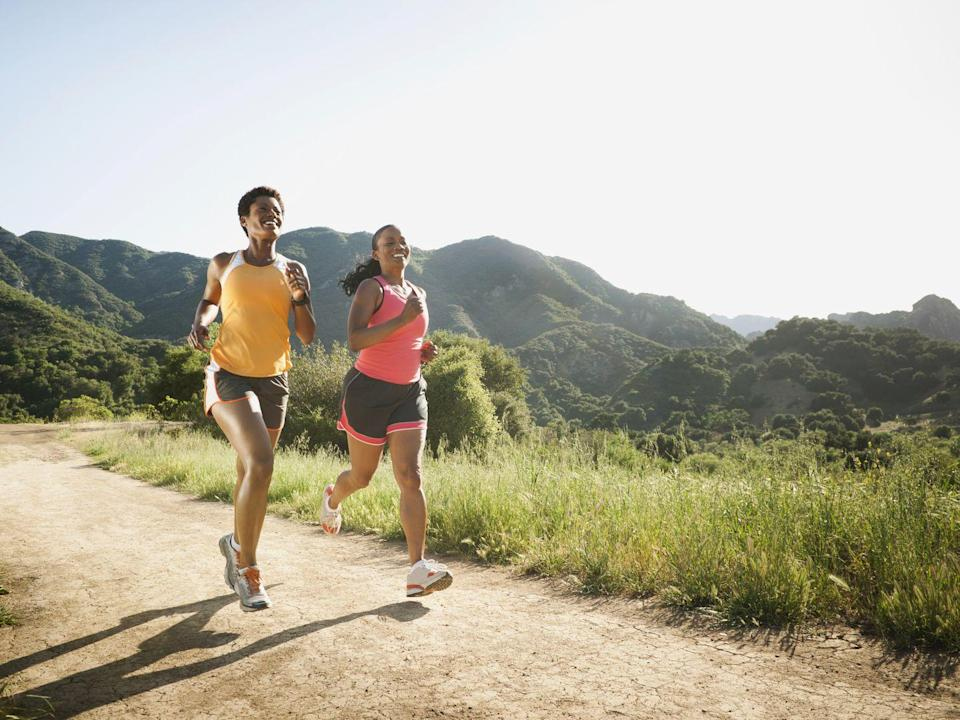 """<p>Running for at least one minute a day is associated with 4% better bone health (compared with running for less than a minute), <a href=""""https://academic.oup.com/ije/article/46/6/1847/3902973"""" rel=""""nofollow noopener"""" target=""""_blank"""" data-ylk=""""slk:according to research in the International Journal of Epidemiology"""" class=""""link rapid-noclick-resp"""">according to research in the International Journal of Epidemiology</a>. """"This is important, especially because after menopause the rate of bone mineral density loss is approximately 1% a year,"""" says study coauthor <a href=""""https://sshs.exeter.ac.uk/staff/profile/index.php?web_id=Victoria_Stiles"""" rel=""""nofollow noopener"""" target=""""_blank"""" data-ylk=""""slk:Victoria Stiles, Ph.D."""" class=""""link rapid-noclick-resp"""">Victoria Stiles, Ph.D.</a> """"So doing 60 seconds of daily jogging essentially reverses about four years of this decline."""" (It's thought that the bone-building kicks in after six to 12 months of daily running.)</p>"""