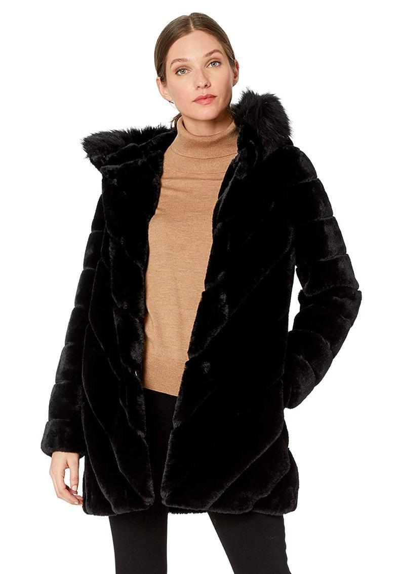 """The best thing about this faux fur number is it's cozy enough for a coffee run but fancy enough for a night at the theater, whenever that's a thing again. $132, Amazon. <a href=""""https://www.amazon.com/Calvin-Klein-Womens-Trimmed-Diagonal/dp/B07BNLWP93/"""" rel=""""nofollow noopener"""" target=""""_blank"""" data-ylk=""""slk:Get it now!"""" class=""""link rapid-noclick-resp"""">Get it now!</a>"""