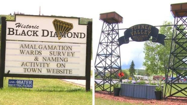 The Alberta towns of Turner Valley and Black Diamond could merge to become Diamond Valley.  (Helen Pike/CBC - image credit)