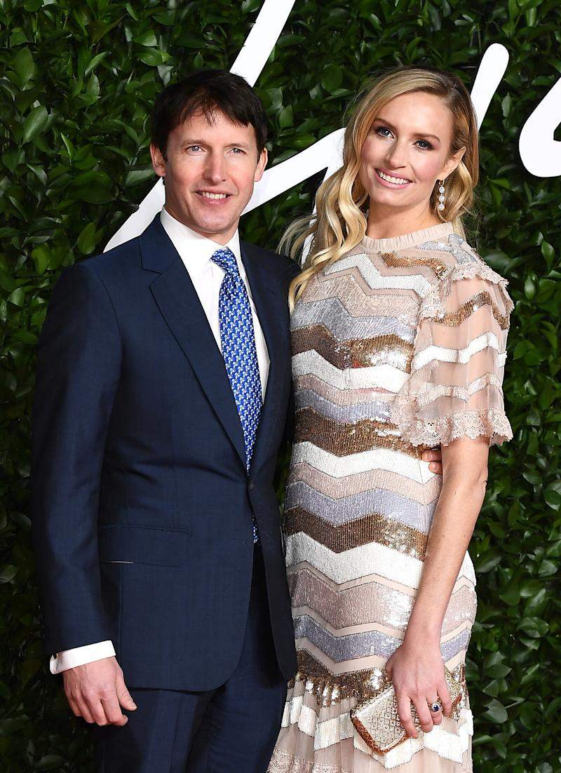 James Blunt and Lady Sofia Wellesley arrive at The Fashion Awards 2019 held at Royal Albert Hall on December 02, 2019 in London, England. (Photo by Jeff Spicer/BFC/Getty Images)