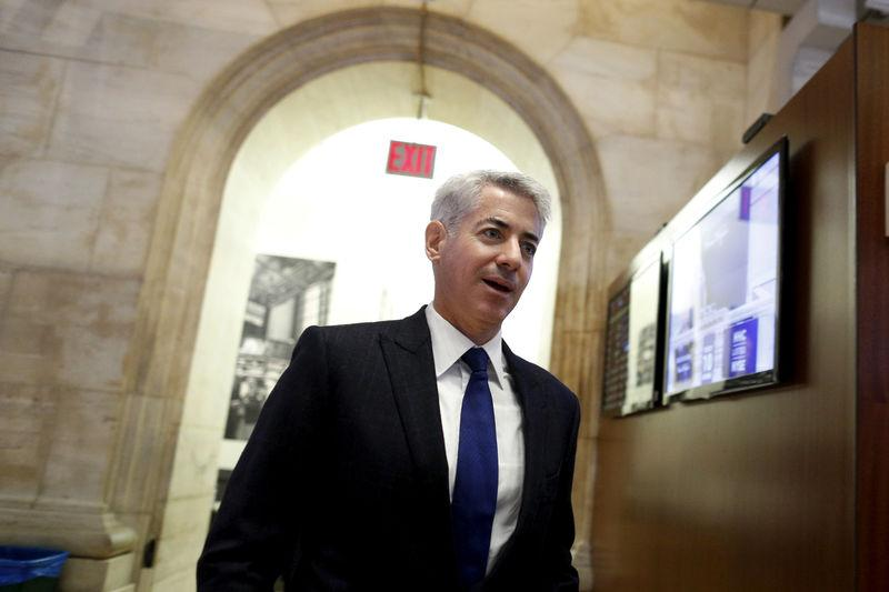 FILE PHOTO - William Ackman walks on the floor of the New York Stock Exchange