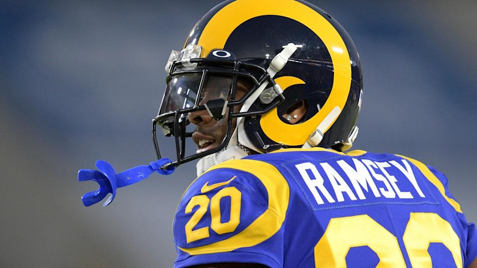 Mandatory Credit: Photo by Kyusung Gong/AP/Shutterstock (10733222a)Los Angeles Rams cornerback Jalen Ramsey watches during an NFL football game against the Seattle Seahawks in Los Angeles.
