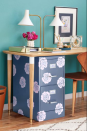 """<p>They're necessary to staying organized, but can kind of be an eyesore! With just some paint and stencils, you can give even the saddest cabinet a makeover. </p><p><em><a href=""""https://www.redbookmag.com/home/decor/g2674/make-over-an-old-file-cabinet/?slide=1"""" rel=""""nofollow noopener"""" target=""""_blank"""" data-ylk=""""slk:Get the tutorial at Redbook »"""" class=""""link rapid-noclick-resp"""">Get the tutorial at Redbook »</a></em> </p>"""