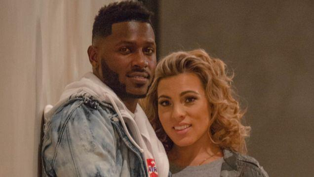 Antonio Brown with cool, Fiancée Chelsie Kyriss