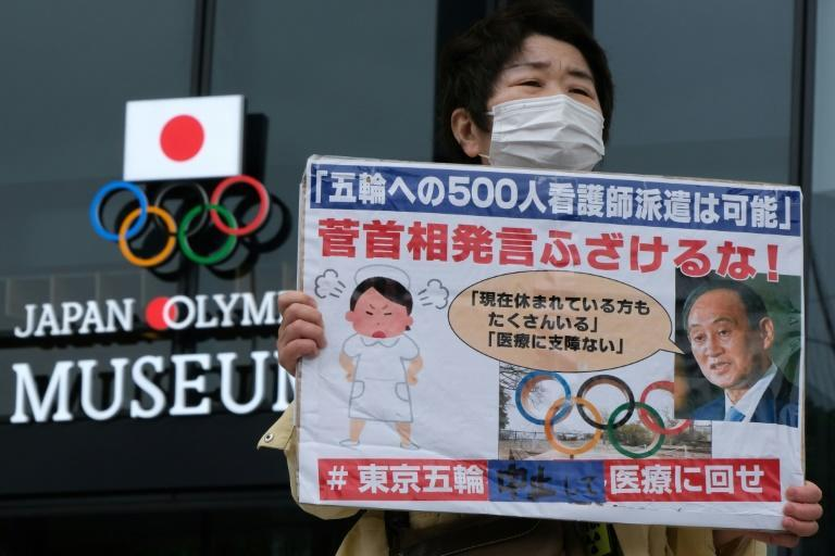 There is rising opposition in Japan to hosting the Olympics