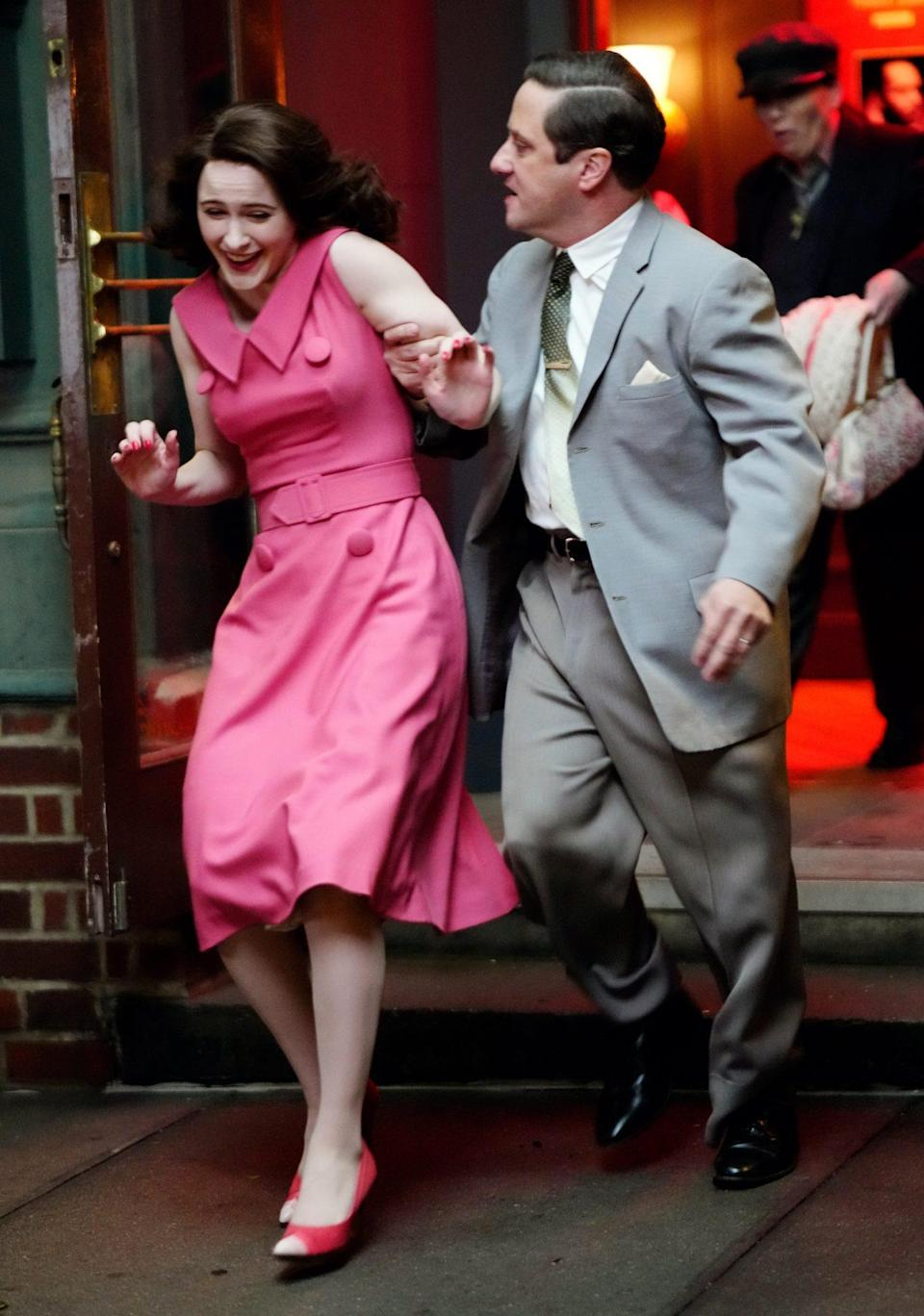 <p>On April 23, the actress filmed a scene where she's removed from a club. Looks like there are some more classic Midge Maisel antics in season 4. </p>
