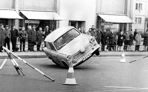 Trabant in East German rally - Credit: Getty Images