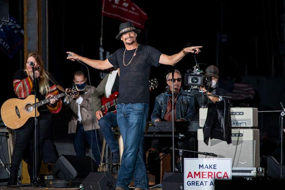 <p>The singer appeared at a campaign event for POTUS 45 in September alongside Donald Trump Jr. The musician has been a longtime supporter of Trump's, having visited him at the White House in 2018. </p>