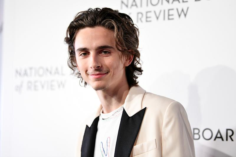 NEW YORK, NEW YORK - JANUARY 08: Timothée Chalamet attends the 2020 National Board Of Review Gala on January 08, 2020 in New York City. (Photo by Dia Dipasupil/Getty Images)