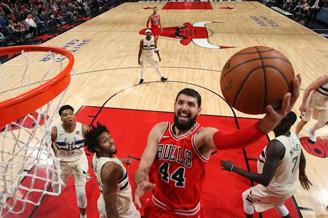 Nikola Mirotic gives the Pelicans a vital source of supplemental offense after losing All-Star center DeMarcus Cousins. (Getty)