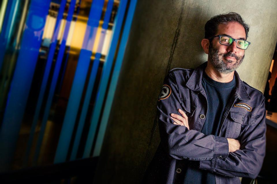 LONDON, UNITED KINGDOM - APRIL 5: Portrait of American video games developer Jeff Kaplan, photographed at the W London hotel in London on April 5, 2017. Kaplan is best known for his work on video game franchises Destiny and World Of Warcraft. (Photo by James Sheppard/Edge Magazine/Future via Getty Images)