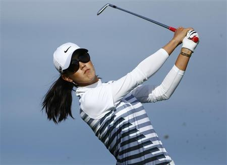 Wie of the U.S. tees off on the 16th hole during the second round of the women's Evian Championship golf tournament in Evian