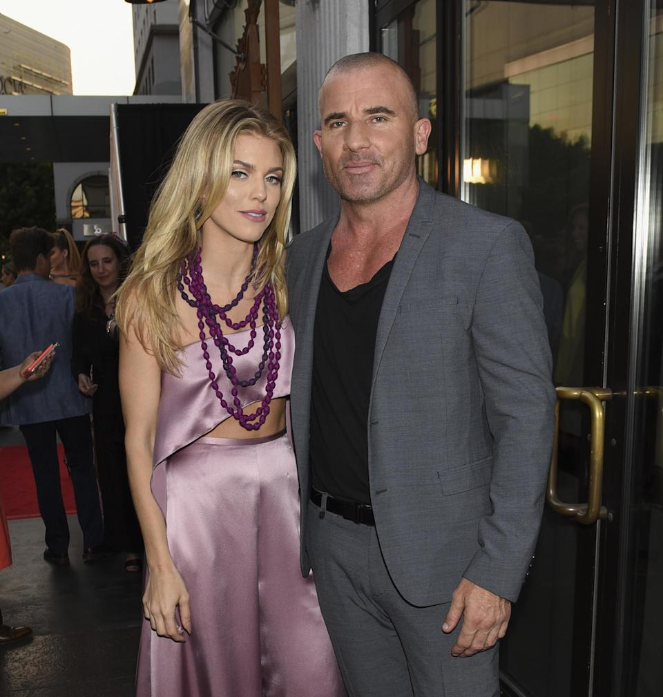 AnnaLynne McCord and Dominic Purcell out together in L.A. on June 25, 2016. (Photo: Michael Bezjian/WireImage)