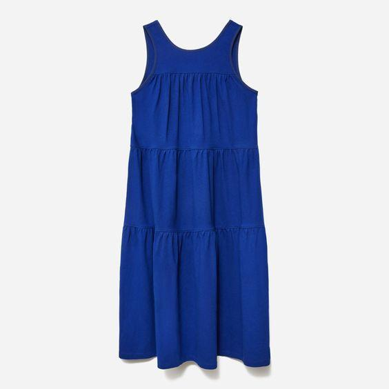 """The type of dress you want to buy in every color. $60, Everlane. <a href=""""https://www.everlane.com/products/womens-weekend-tiered-dress-midnight?collection=womens-sale"""" rel=""""nofollow noopener"""" target=""""_blank"""" data-ylk=""""slk:Get it now!"""" class=""""link rapid-noclick-resp"""">Get it now!</a>"""