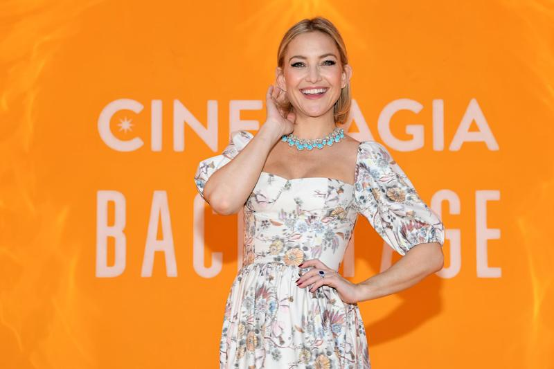 CAPRI, ITALY - JUNE 13: Kate Hudson attends the Bvlgari Hight Jewelry Exhibition on June 13, 2019 in Capri, Italy. (Photo by Daniele Venturelli/Daniele Venturelli/ Getty Images for Bvlgari)