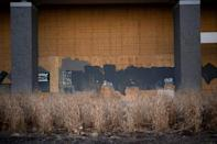 Boarded-up premises have become common across the US capital