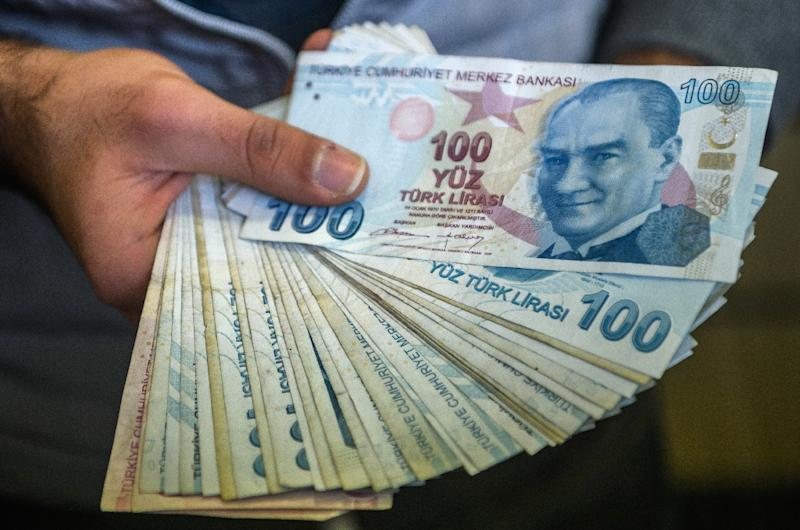 The Turkish lira hit a record low against the US dollar in trading on Tuesday