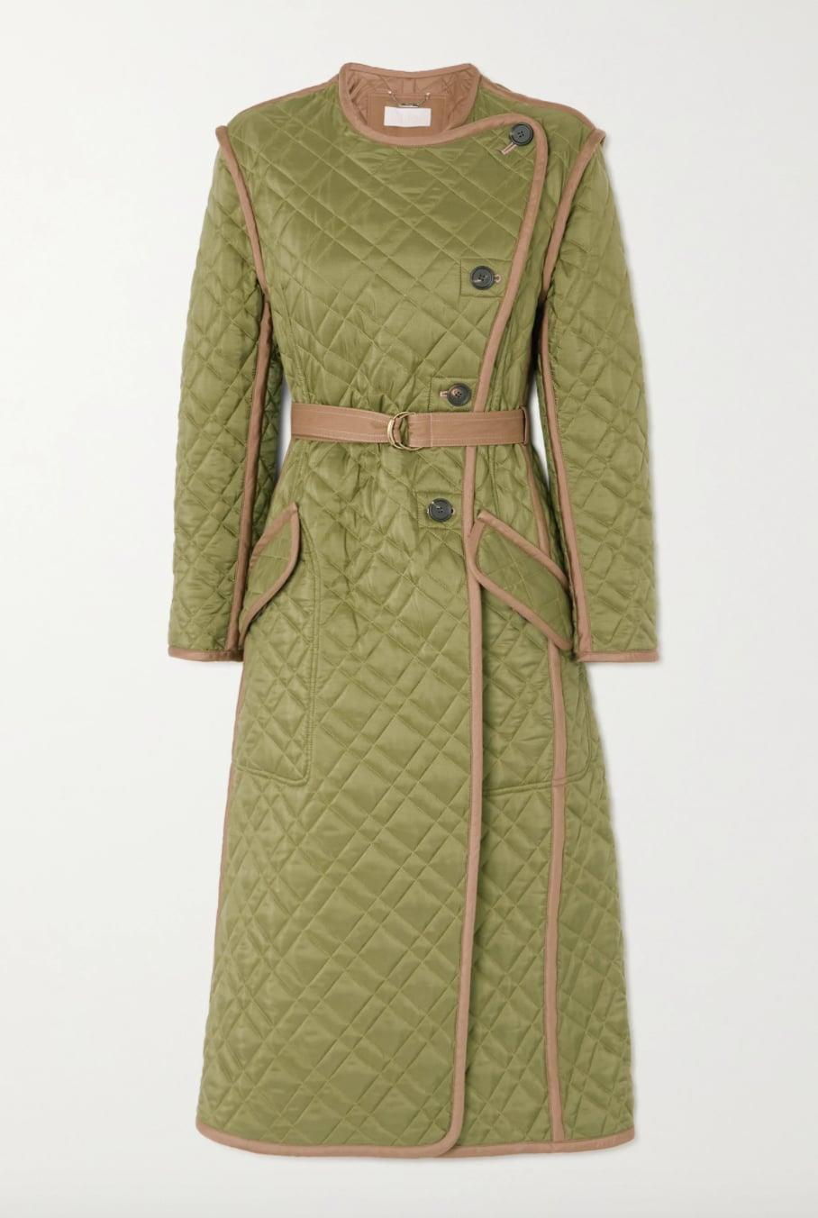 <p><span>Chloe Belted Quilted Shell Coat</span> ($4,850) </p>