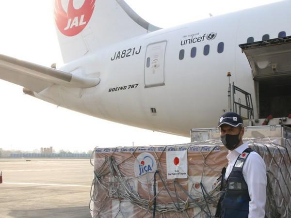 Shipment of emergency assistance from Japan arrives in India (Twitter/Embassy of Japan in India)