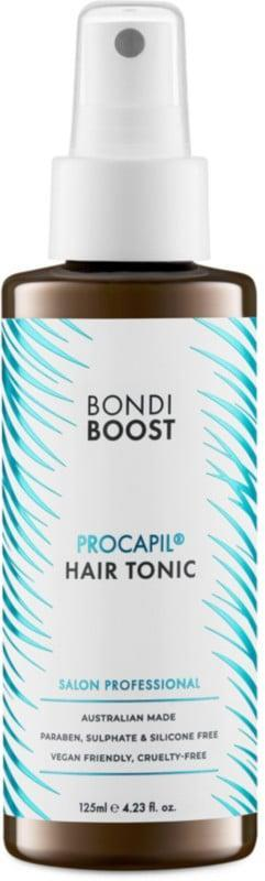 <p>Treat your scalp and hair folicles right with the <span>Bondi Boost Procapil Hair Tonic</span> ($16, originally $20).</p>