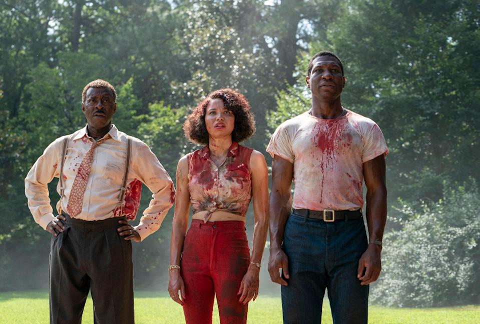 """Based on Matt Ruff's novel of the same name, <em>Lovecraft Country</em> follows Atticus Freeman (Jonathan Majors) as he meets up with his friend Letitia (Jurnee Smollett) and his Uncle George (Courtney B. Vance) to embark on a road trip across 1950s Jim Crow America in search of his missing father (Michael Kenneth Williams),"" reads an <a href=""https://www.hbo.com/lovecraft-country"" rel=""nofollow noopener"" target=""_blank"" data-ylk=""slk:official description from HBO"" class=""link rapid-noclick-resp"">official description from HBO</a>."