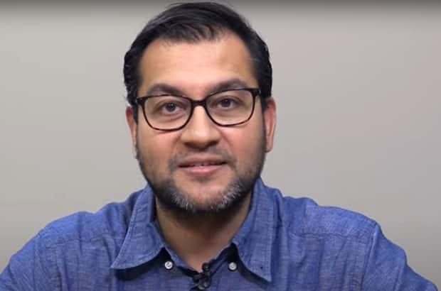 Dr. Sudit Ranade, who is currently on leave from his role as the medical officer of health for Lambton County, is shown in a image captured from a Lambton Public Health video. (Lambton Public Health - image credit)